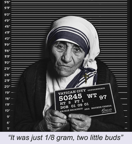 """""""The Canonization of Mother Teresa, another Sphincter story, and Phoenix at night"""""""