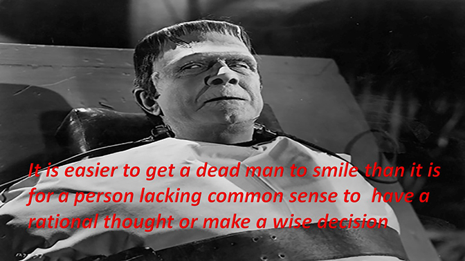 Making a dead man smile is easier than……